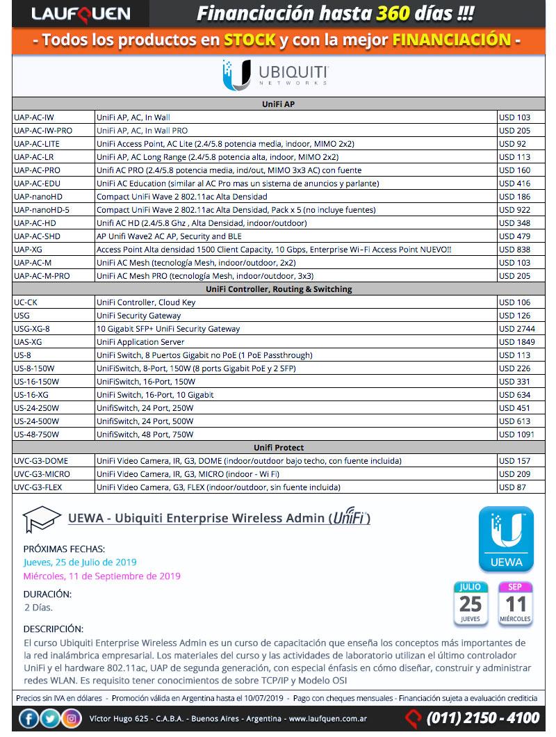 UBIQUITI   UniFi en STOCK   Financiación hasta 360 días