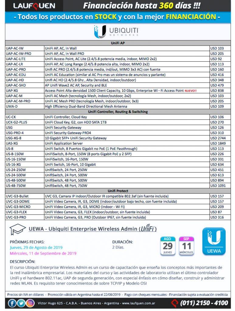 UBIQUITI | UniFi en STOCK | Financiación hasta 360 días
